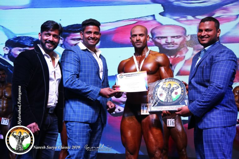 winners of bodybuilding at naresh surya classic 2019
