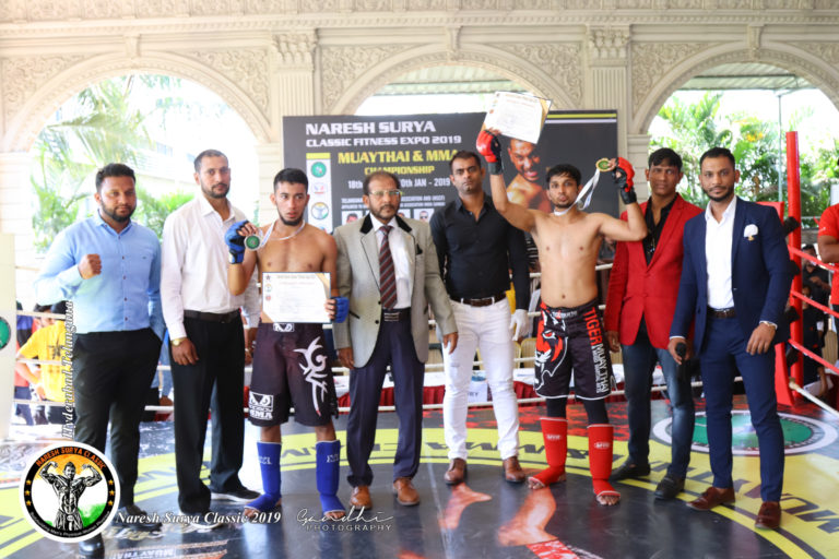 winners of kick boxing at naresh surya classic fitness expo 2019