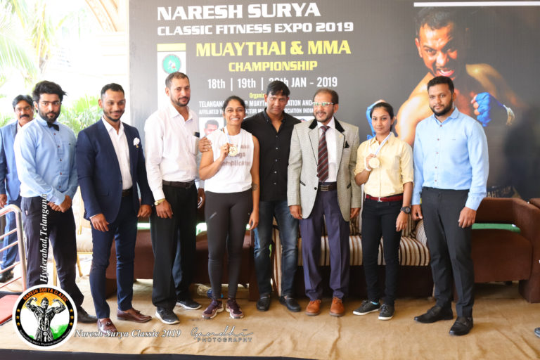 women athelets of kick boxing at naresh surya classic fitness expo 2020